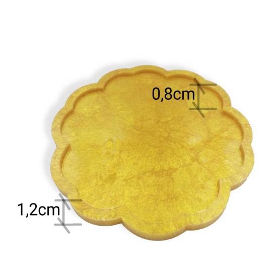 Çiçek Tepsi - Premium Silikon Kalıp 22cm