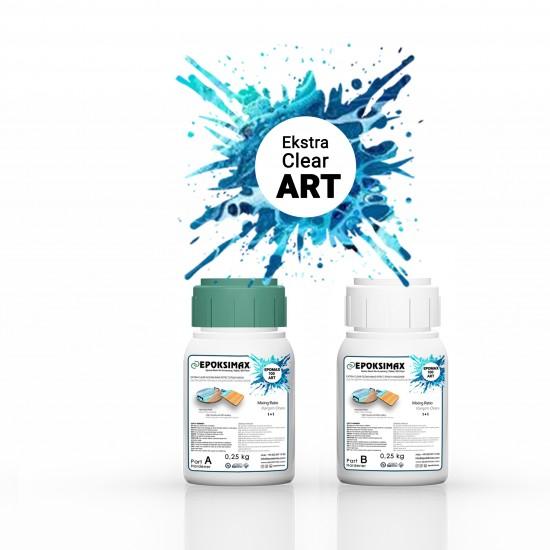 EPOMAX 100 ART Ekstra Şeffaf Okyanus Dalgası Efekti Epoksi Reçine 500 GR