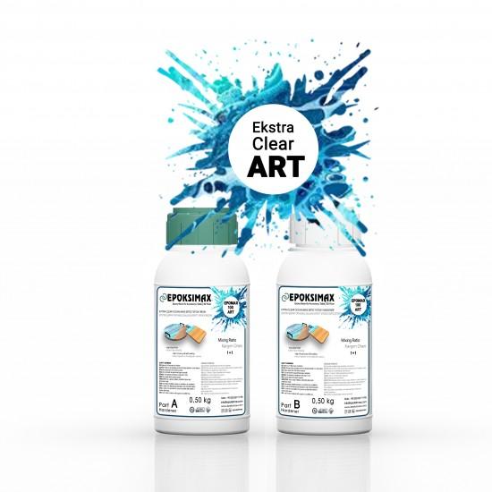EPOMAX 100 ART Ekstra Şeffaf Okyanus Dalgası Efekti Epoksi Reçine 1 KG