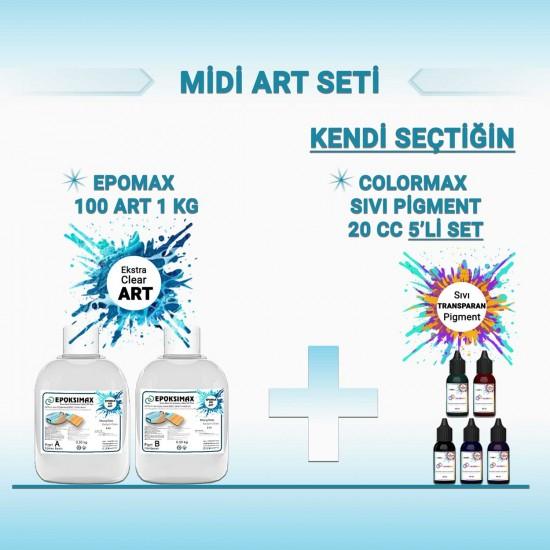 MİDİ ART SETİ - EPOMAX 100 ART 1 KG + 5x20 CC PİGMENT