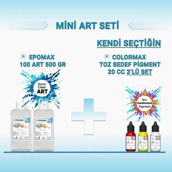 MİNİ ART SETİ - EPOMAX 100 ART 500 GR + 3x20 CC PİGMENT