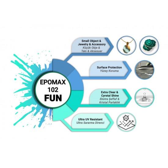 EPOMAX 102 FUN Ekstra Şeffaf Hobi Epoksi Reçine 1,5 KG
