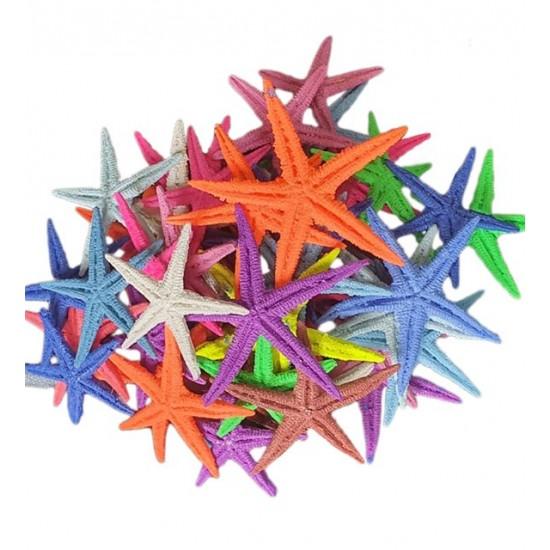 Polyester Deniz Yıldızı   Karışık Renk - 100 Adet (0,5cm-1,5cm)